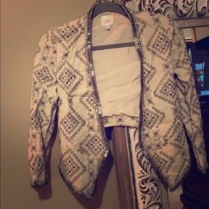 Parker beaded crop jacket